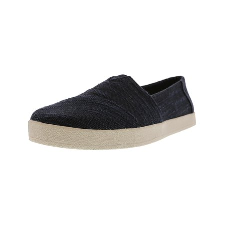 a2554d4ff7b Toms Women s Avalon Slubby Cotton Black Ankle-High Slip-On Shoes - 7M ...