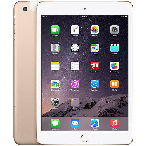 Apple iPad mini 3 16GB Wi-Fi + Cellular Refurbished, Gold