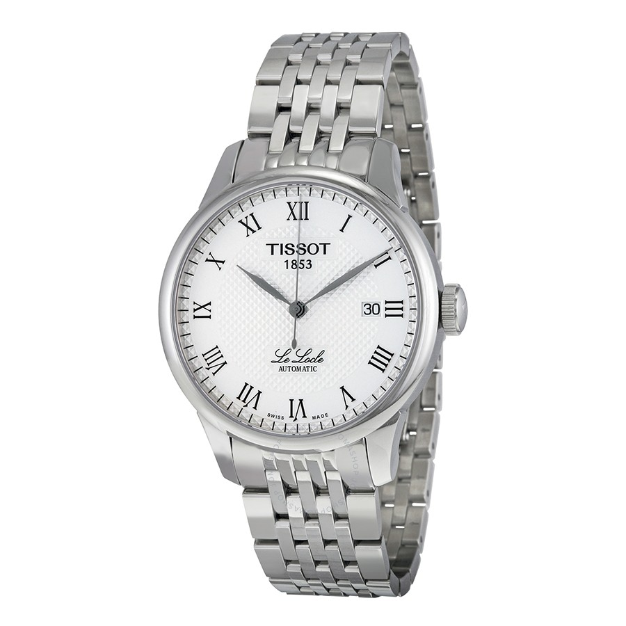 Tissot Men's Le Locle T41.1.483.33 White Stainless-Steel ...