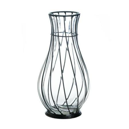 Decorative Vases Short Glass Metal Home Centerpiece Modern Vases