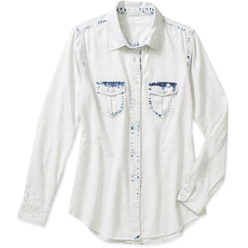 Faded Glory Women's Classic Denim Shirt