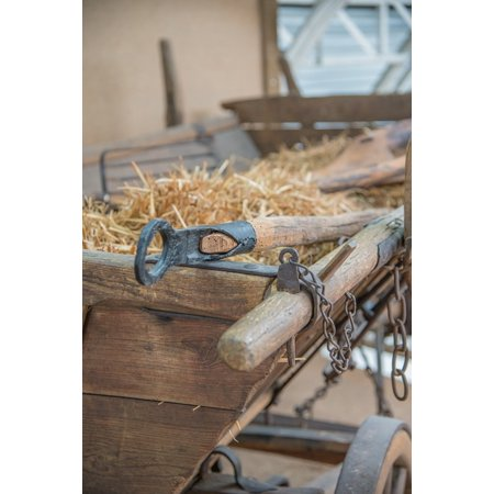 Canvas Print Agriculture Hay Wagon Wood Car Antique Faceplate Stretched Canvas 10 x 14