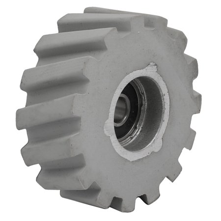 65mmx8mmx25mm Bearing Steel Rubber Pinch Roller Edgebanding Wheel Pulley Gray ()
