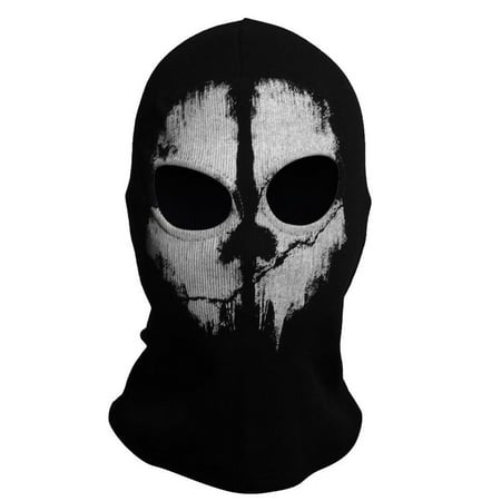 Fashion Cool Balaclava Hood Face Ghost Skull Mask Call Of Duty Biker Halloween Skateboard Cos - Painting A Skull Face For Halloween
