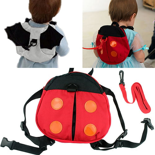 Girl12Queen Ladybug Baby Kid Toddler Keeper Walking Safety Harness Backpack Leash Strap Bag by