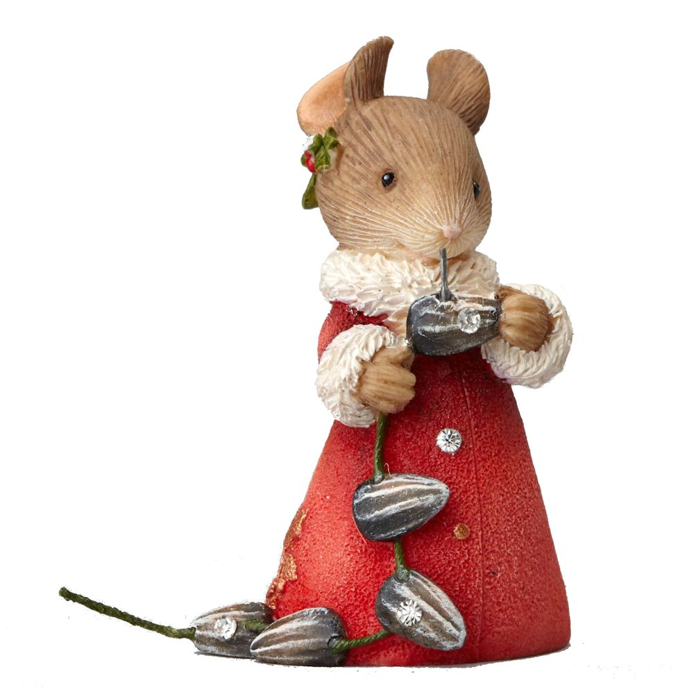 Heart of Christmas Mouse w/GARLAND Figurine