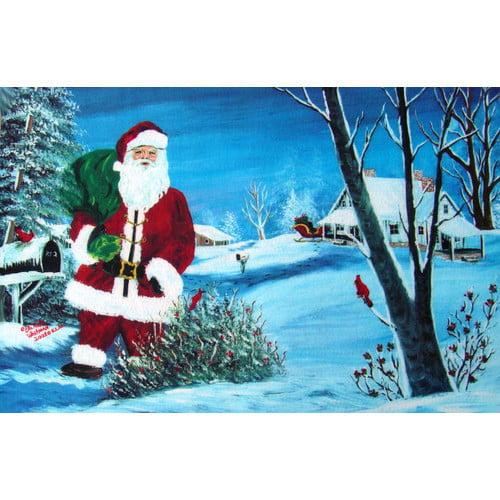 Custom Printed Rugs Holiday Santa Doormat