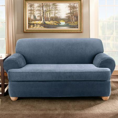 Sure Fit Stretch Stripe Separate Seat T Cushion Sofa