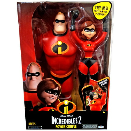 """The Incredibles 2 Power Couple, Features 12"""" Mr. Incredible and Elastigirl Slingshot Figure"""