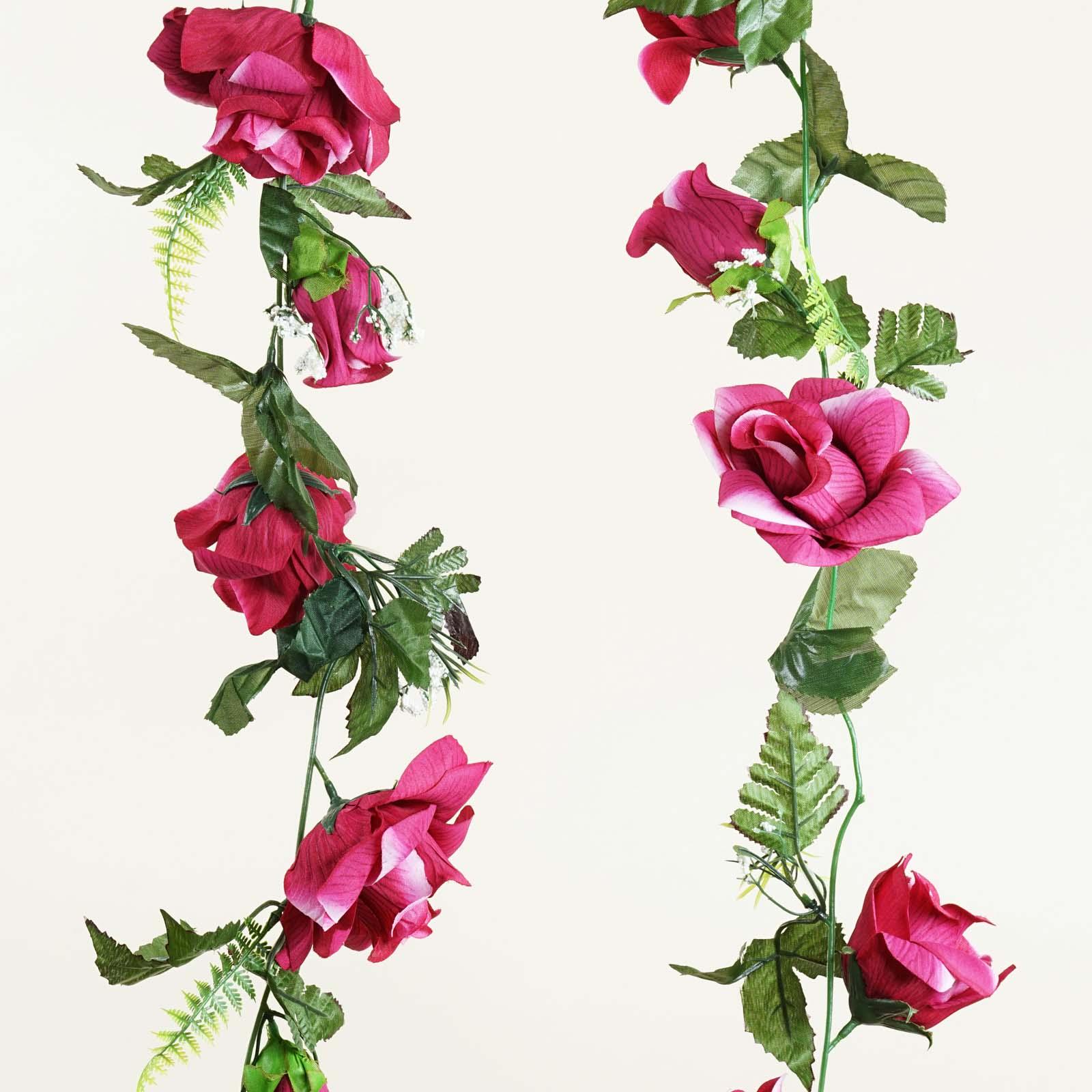 Efavormart 24 ft Large Artificial Rose Garlands for DIY Wedding Centerpieces Arrangements Party Home Decorations Wholesale Supplies