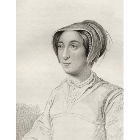 Elizabeth Cooke Lady Russell Lady Hoby 1528   1609 Engraved By Rivers From The Book A Catalogue Of Royal And Noble Authors Volume Ii Published 1806 Posterprint