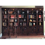 6 Pc Open Top Bookcase w Library Ladder