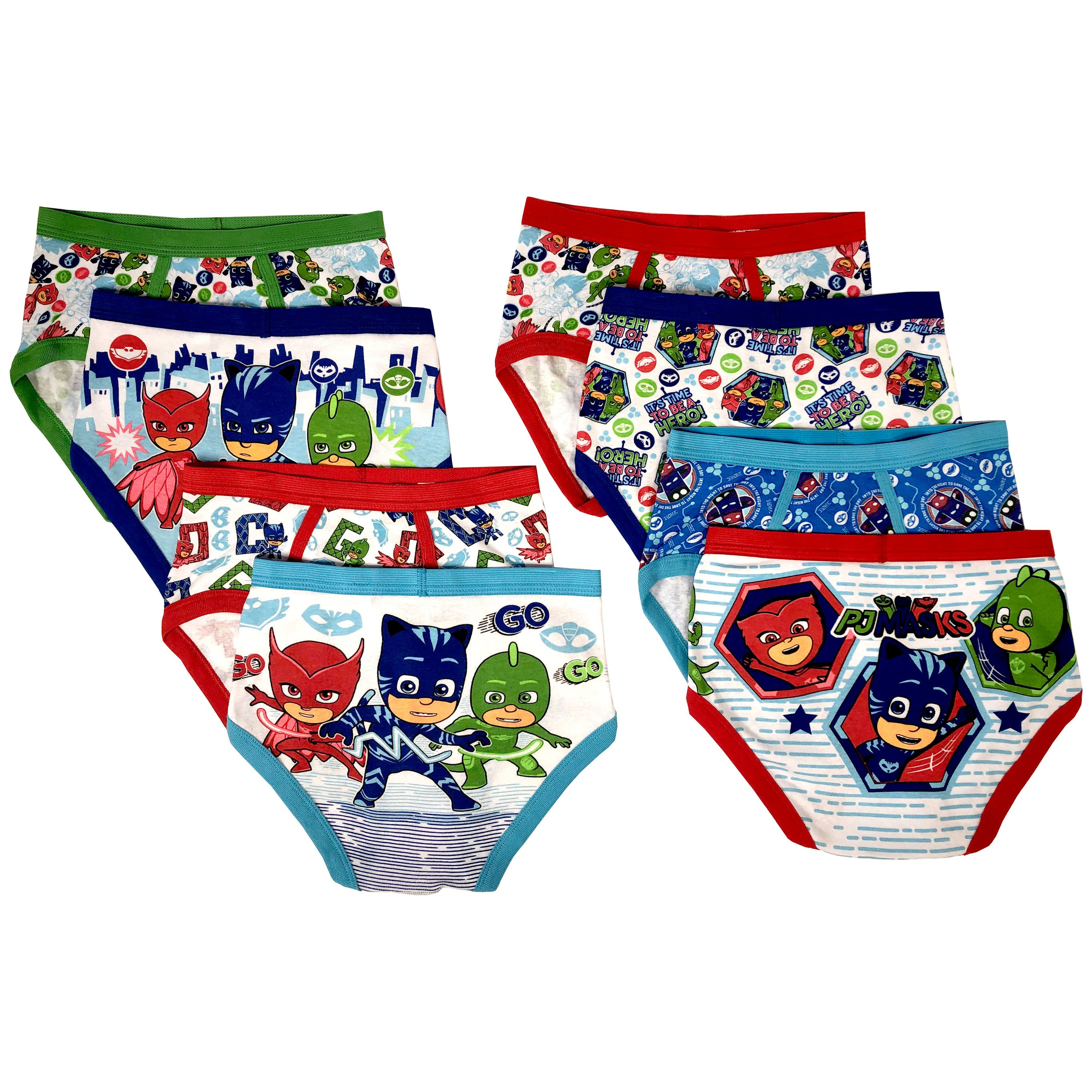 Hot Wheels Boys Briefs 6-Pack Underwear Sizes 2T-8 Toddler to Big Kid