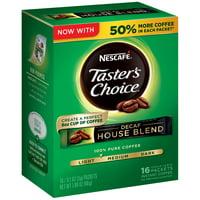(8 Pack) NESCAFE TASTER'S CHOICE Decaf House Blend Medium Light Roast Instant Coffee 16-0.1 oz. Singles
