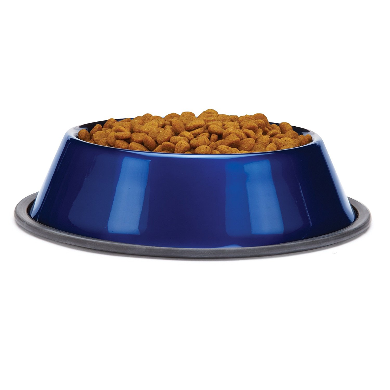 ProSelect Stainless Steel Dura-Gloss Metallic Dog Bowl, 32-Ounce, Sapphire