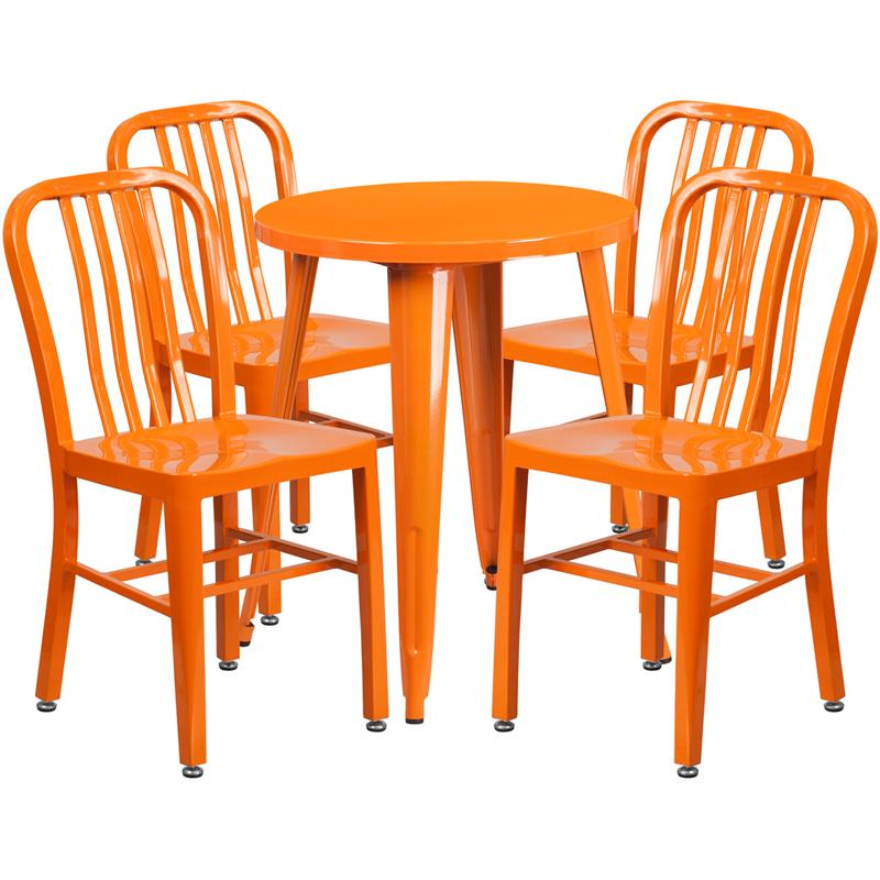 24RD Yellow Metal Table Set - image 4 de 6