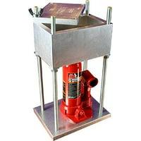 Hydraulic Press Built From Aircraft Aluminum - Made in USA (4-Ton / 8,000 Lbs Brick Press)