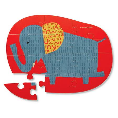 Crocodile Creek Happy Elephant 12Piece Jigsaw Puzzle - image 1 of 2