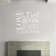 Fox Hill Trading Love Is the Tie that Binds Family Together Vinyl Wall Decal