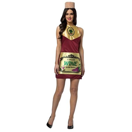 Wine Bottle Dress Adult Costume (Bottle Costume)