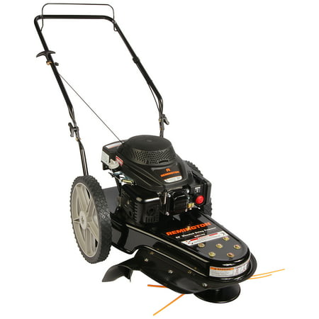 "Remington 22"" Gas-Powered Wheeled String Trimmer Lawn Mower"