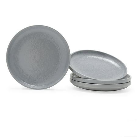 MoDRN Scandinavian 4 Piece Salad Plate Set, Grey Mist
