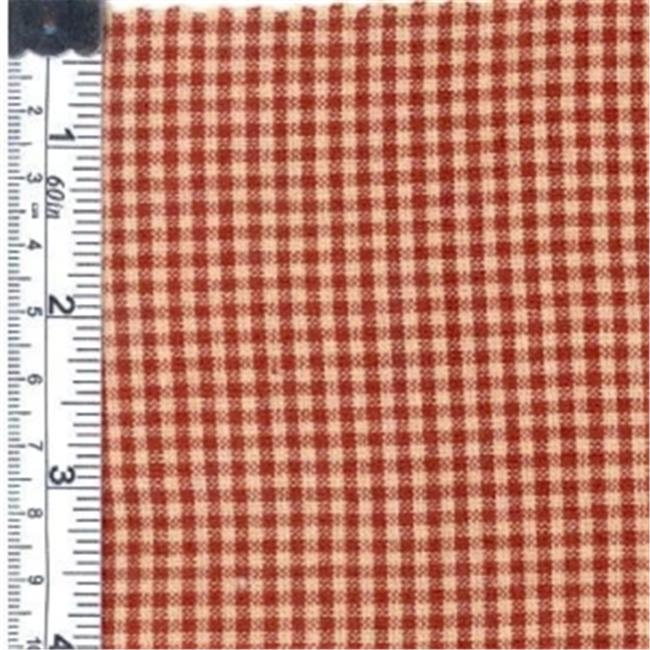 Textile Creations 140A Rustic Woven Fabric, Small Check Red, 15 yd.