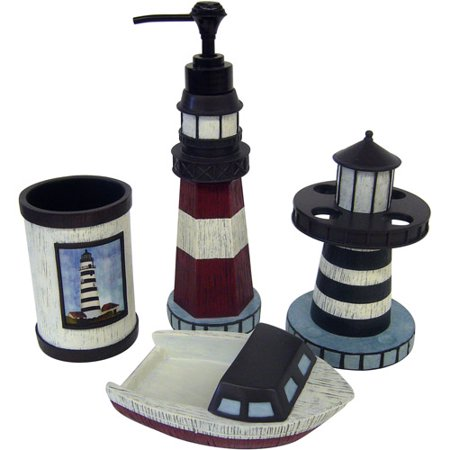Harbor Cove 4pc Resin Acc Walmart Com