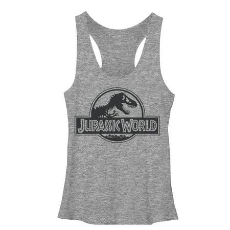 - Jurassic World Women's Simple T. Rex Logo Racerback Tank Top