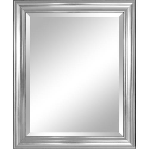Click here to buy Alpine Art & Mirror Crackled Silver 28 x 34-inch Framed Mirror with Bevel by Overstock.