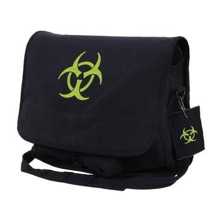 Black Canvas Strap (Rothco Bio-hazard Vintage Canvas Messenger Bag, Detachable Shoulder Strap, Black)