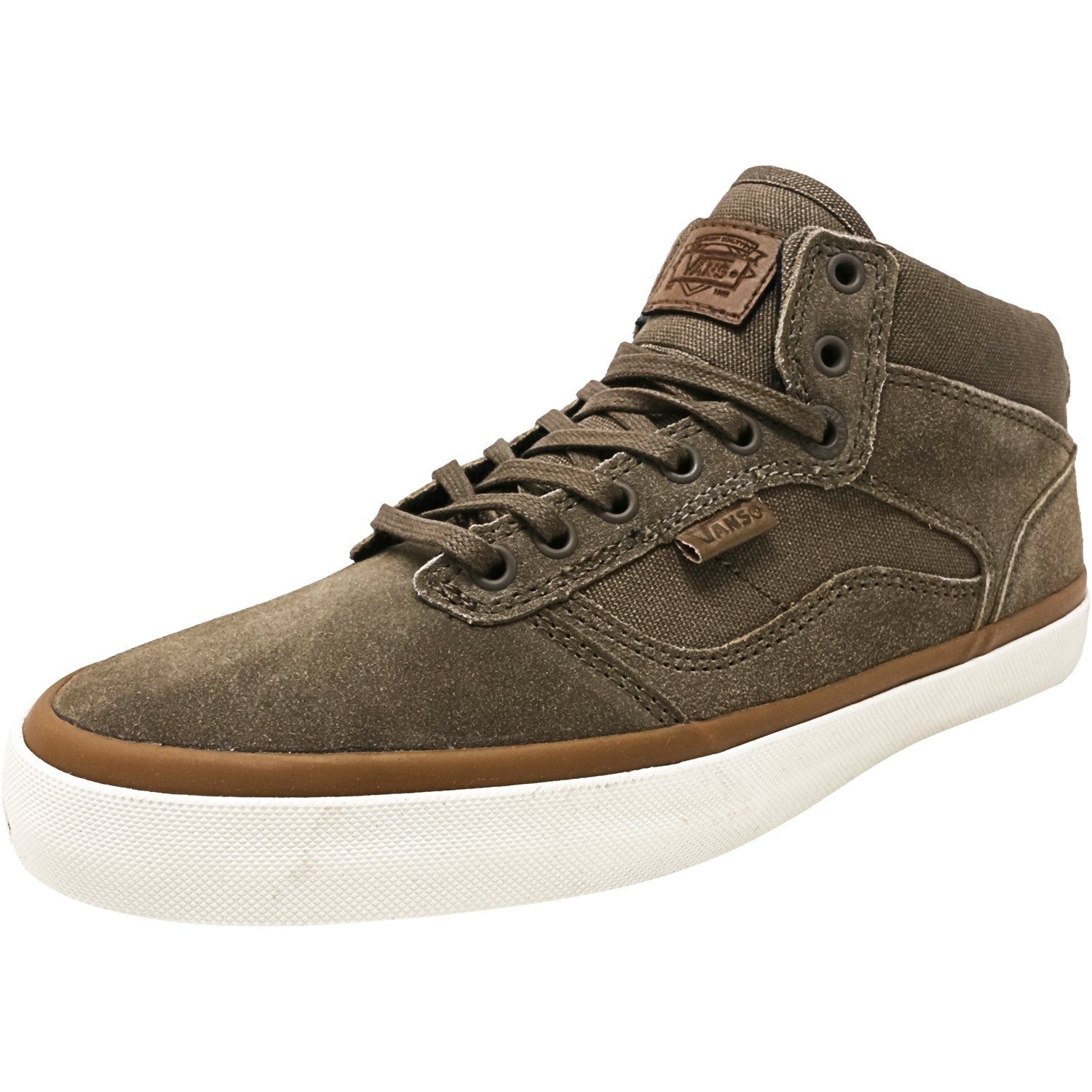 Vans Bedford Canvas And Suede Walnut / Marsh Ankle-High Fabric Fashion Sneaker - 9.5M 8M