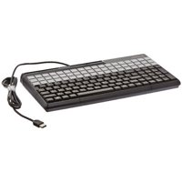 """Cherry 14"""" SPOS USB Keyboard with 135 Key Layout and Magnetic Reader - Black"""