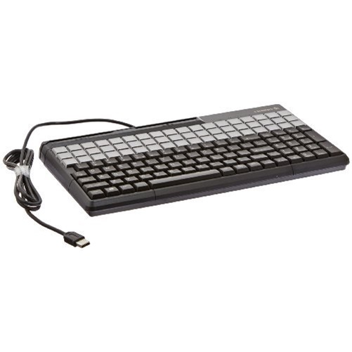 "Cherry 14"" SPOS USB Keyboard with 135 Key Layout and Magnetic Reader - Black"