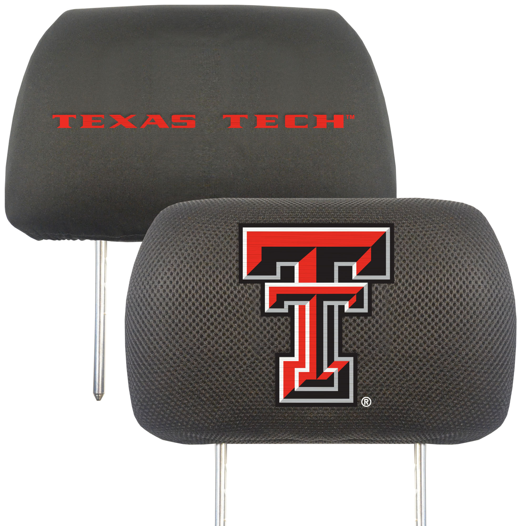NCAA Texas Tech University Red Raiders Head Rest Cover Automotive Accessory