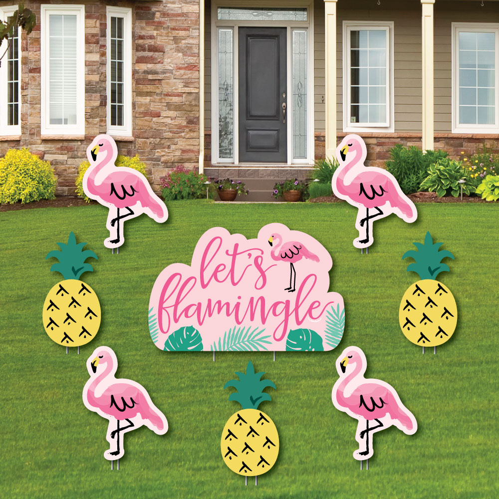 Pink Flamingo Welcome Sign Custom House Number Address sign With or w//o Numbers