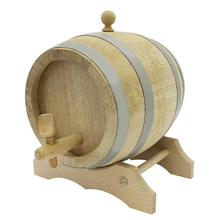 - Paderno World Cuisine A4982271 9 x 9 x 9 in. Oak Barrel with Spigot & Stand