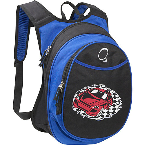 Obersee Kids Pre-School Racecar Backpack with Integrated Lunch Cooler