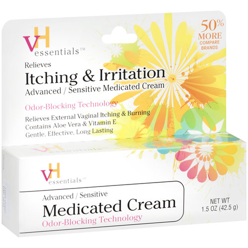 Vh Essentials Advanced/Sensitive Itching And Irritation Medicated Cream, 1.5 oz