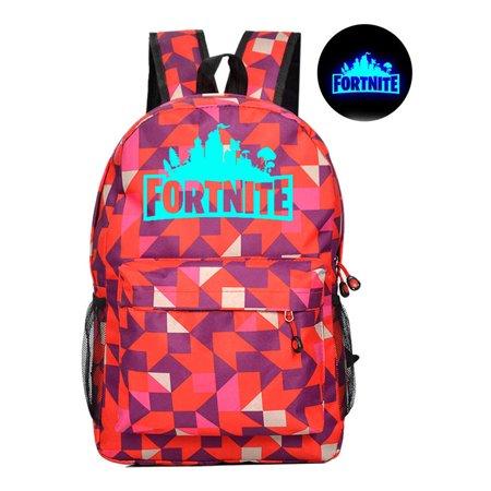 73d082a899dd Game Fortnite Battle Royale Backpack Luminous Fortnite School Bags Plaid red