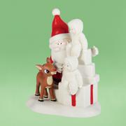 Dept 56 Snowbabies 4037310 Team Rudolph  Red Nose Reindeer Retired