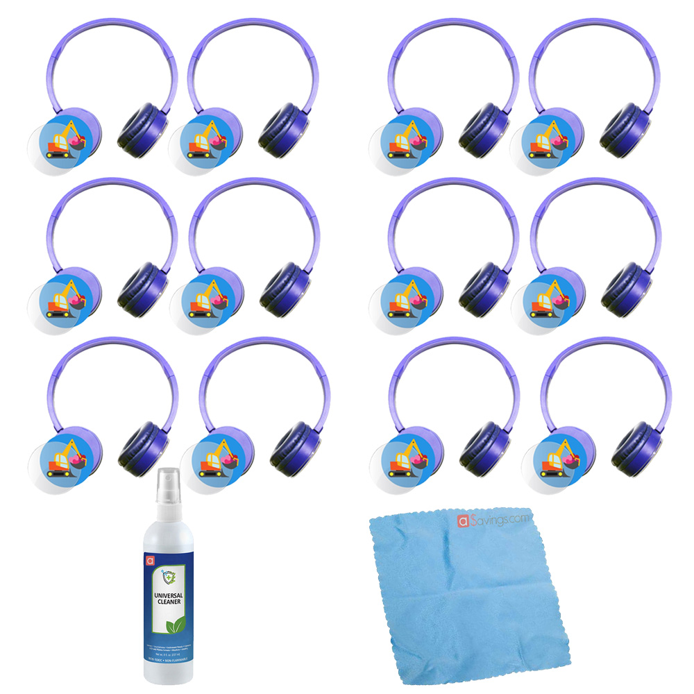 Hamilton Buhl Express Yourself Headphone - Blue (12 pack) & Accessory Kit