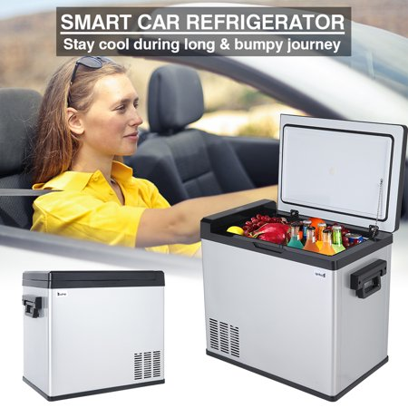 YOFE 12V Car Refrigerator, 50L Portable Mini Car Refrigerator, 54-Quart Portable Fridge Freezer, Touch Screen Compact Vehicle Car Fridge Freezer for Driving Travel Fishing Home, 12V/24V DC &110V AC, R1107