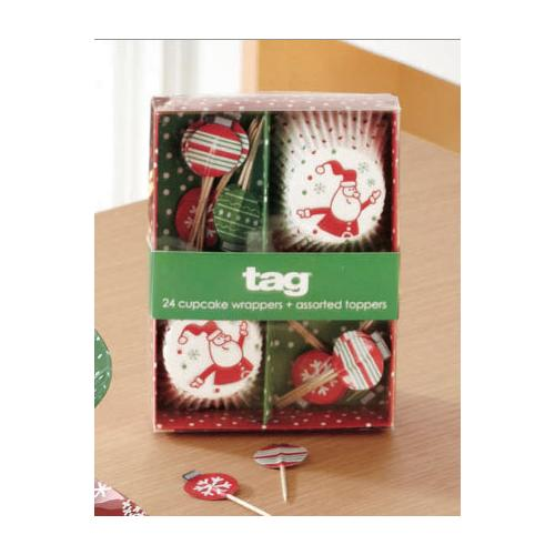 Tag Christmas Cupcake Decorating Kit