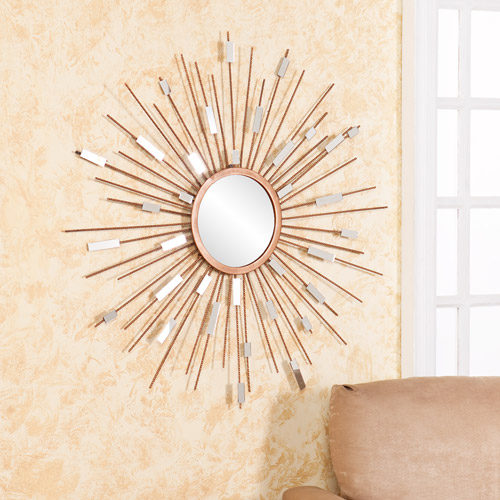 Camrose Mirrored Wall Sculpture, Gold