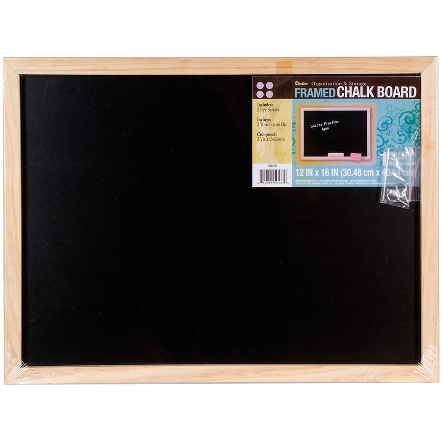 Black Chalkboard with Unfinished Wood Frame: 12 x 16 inches by Elmers/X-Acto