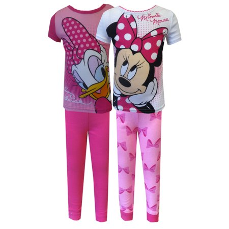 Disney Minnie Mouse and Daisy Duck 4 Piece Toddler Pajama - Minnie Mouse Toddler Pajamas