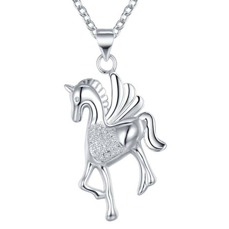 - ON SALE - Pegasus Sterling Silver Necklace Silver