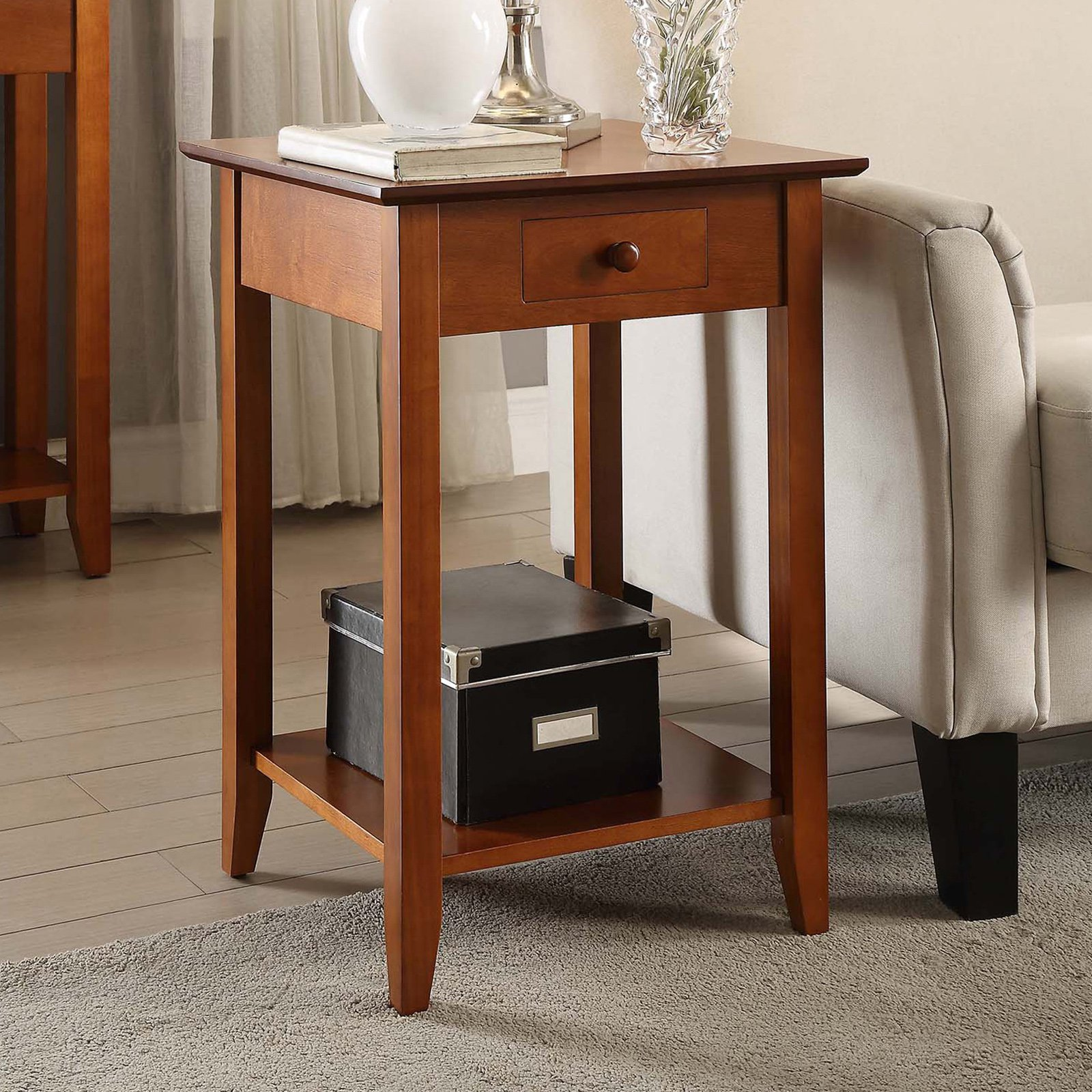 Convenience Concepts American Heritage End Table, Multiple Finishes by LIVEDITOR LIGHTING
