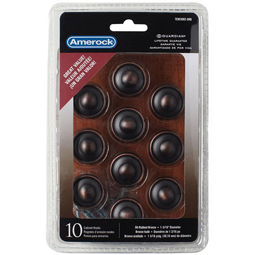 "Amerock Oil-Rubbed Bronze 1-3/16"" Discus Knobs, 10pk"